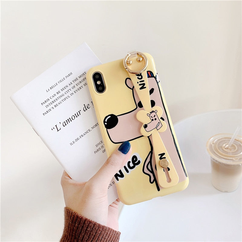 iPhone XS Max Wrist Strap Stand Case