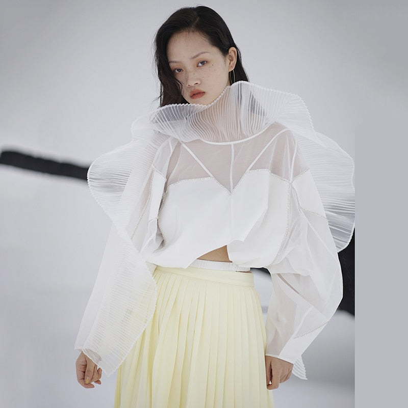 Perspective Organza Three-dimensional Blouse