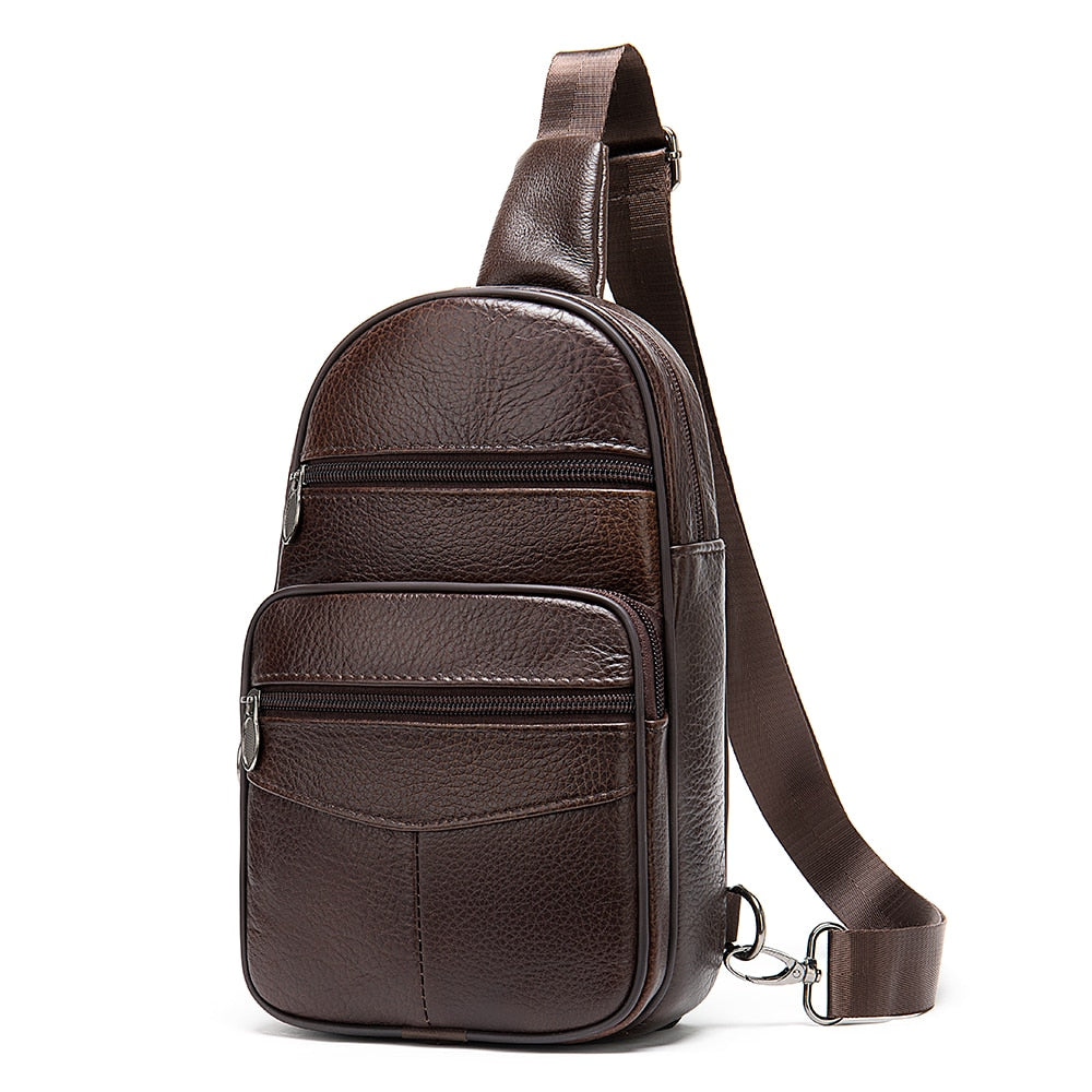 Genuine Leather Chest Crossbody Bag