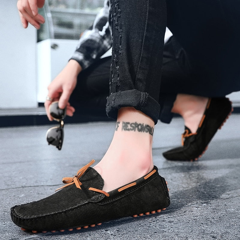 Genuine Suede Leather Loafers