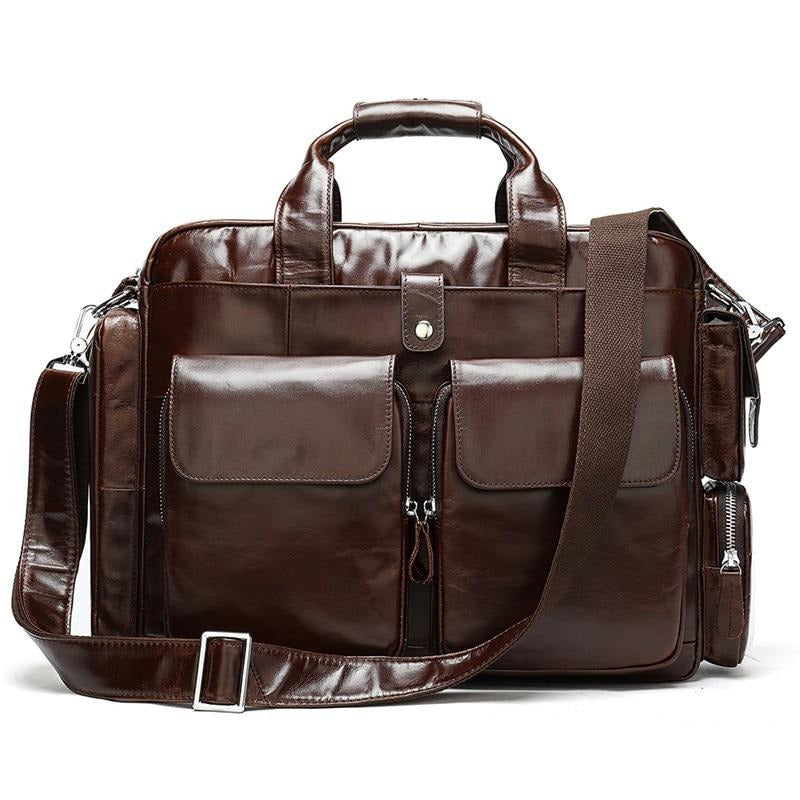 Genuine Leather 14 inch Laptop Bag