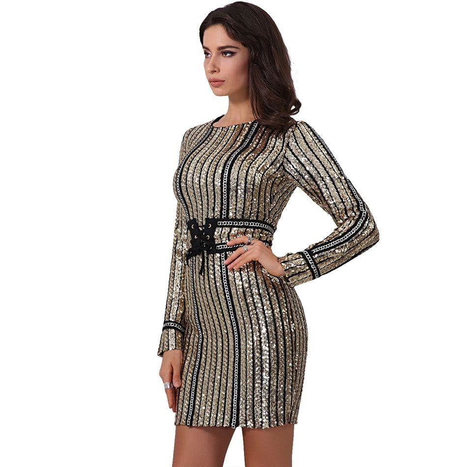 Sequined Bodycon Club Dress