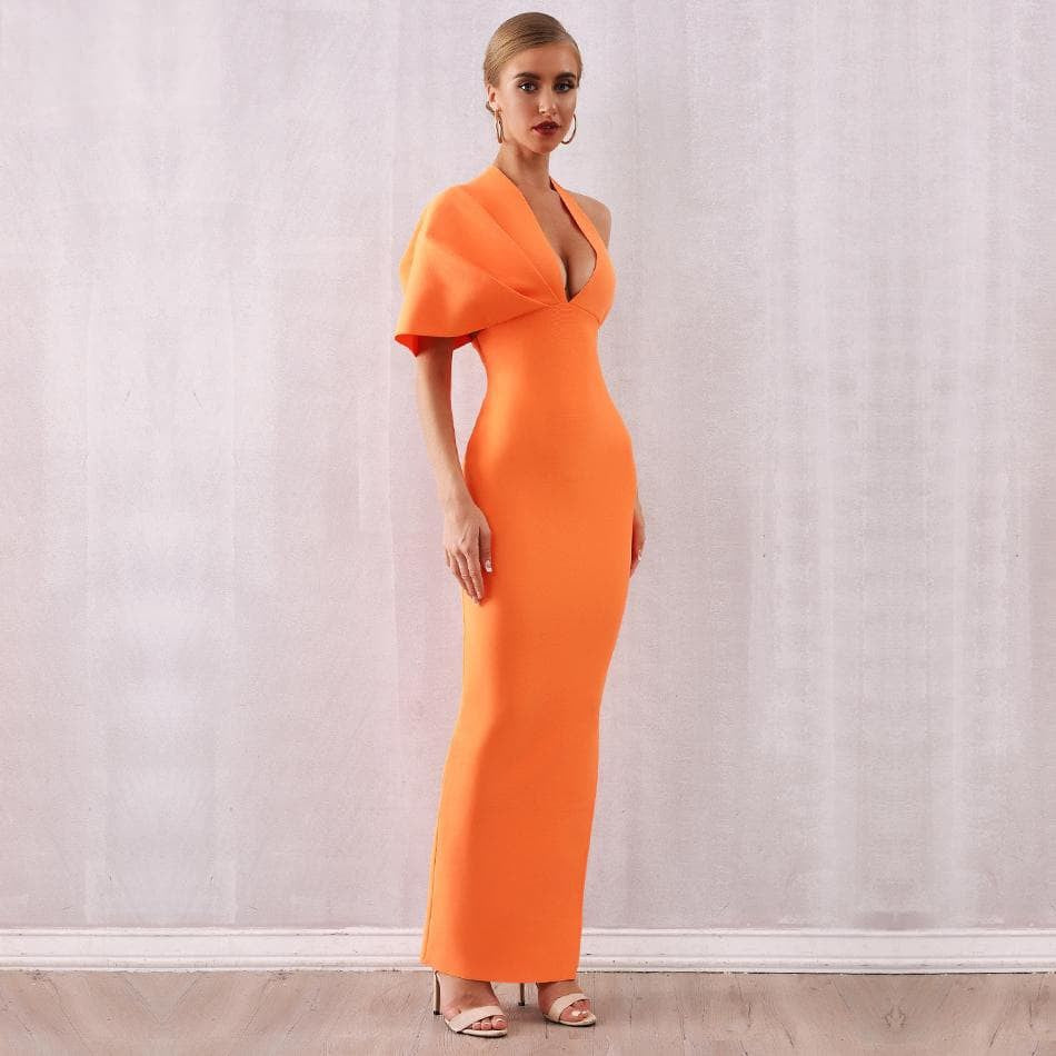 BlingFeed Inc. One Shoulder Maxi Club Dress club-collection, clubwear, dress, dresses, evening-wear, gown, party-wear, women, women-clothing, women-dress, women-dresses, women-dresses-jumpsuits