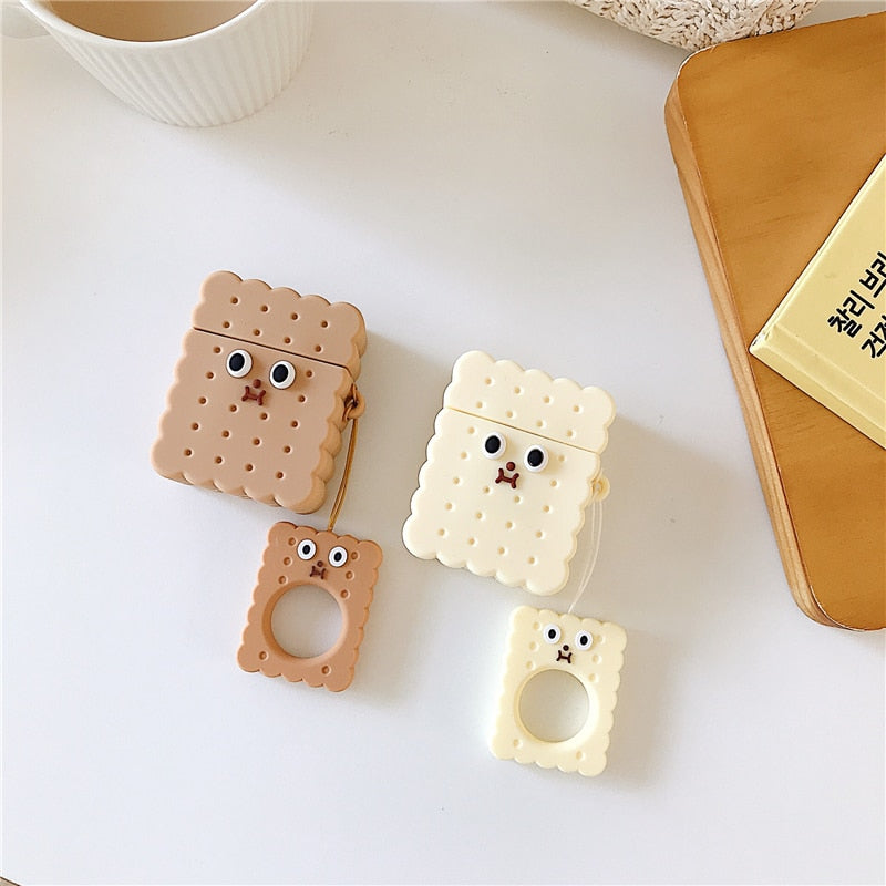 Cute Cookie Shape Apple Airpods Silicone Cover