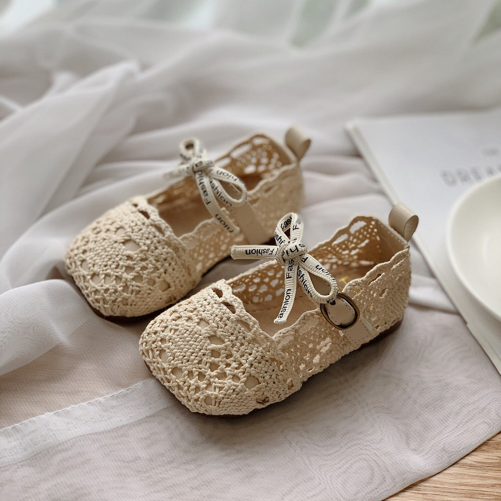 Baby Girl Woven Soft Sole Shoes