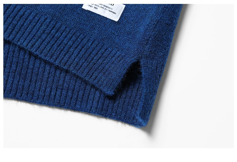 Slim Fit Knit Mix Wool Pullover