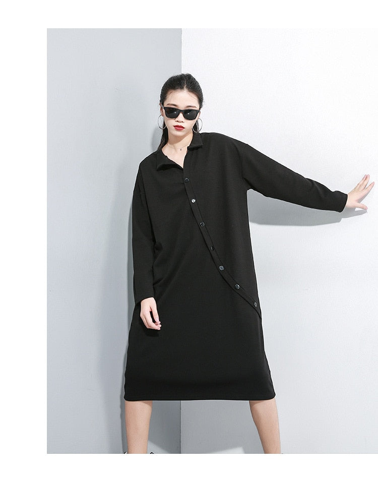 Long Sleeve Loose Fit Dress