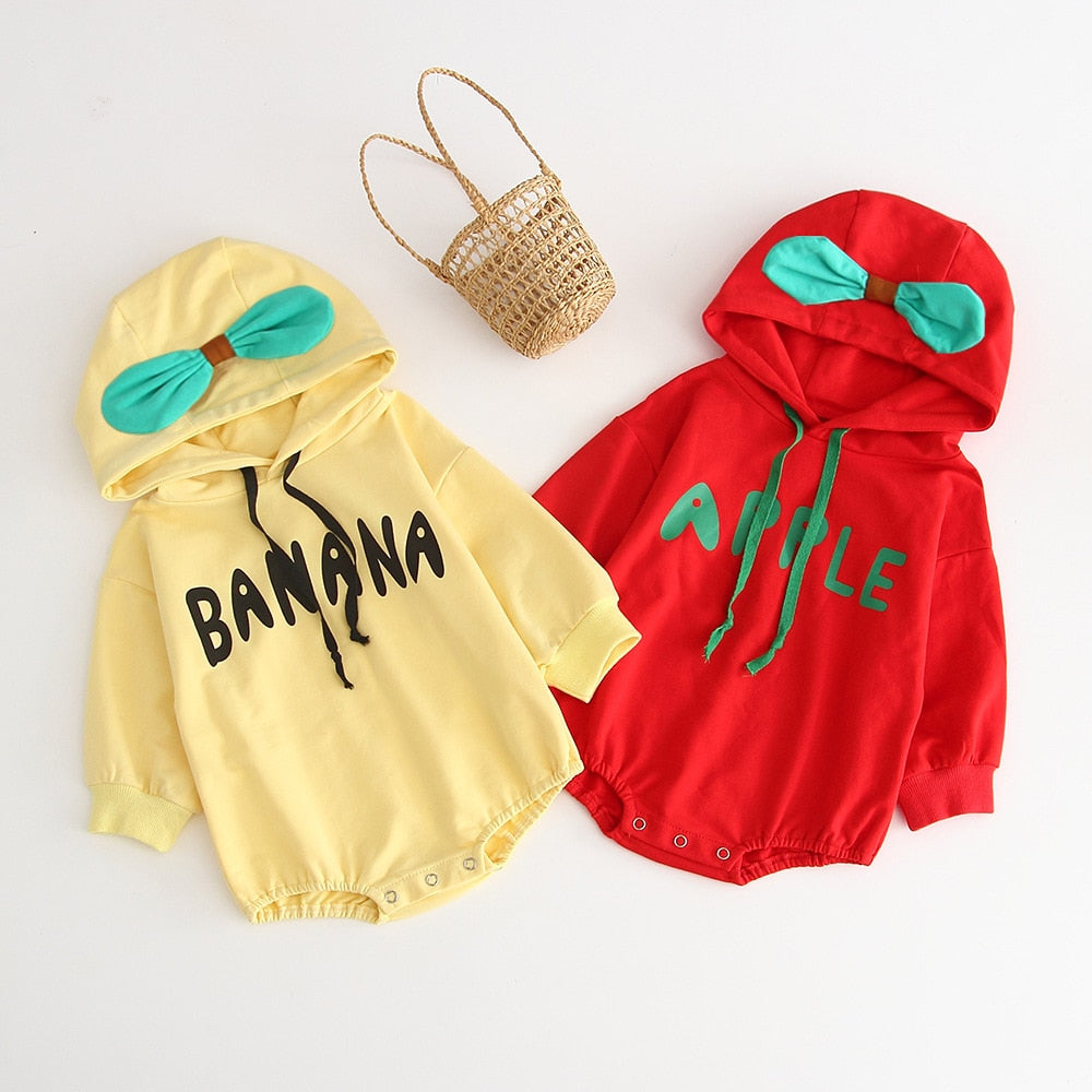 Baby Hooded Fleece Romper