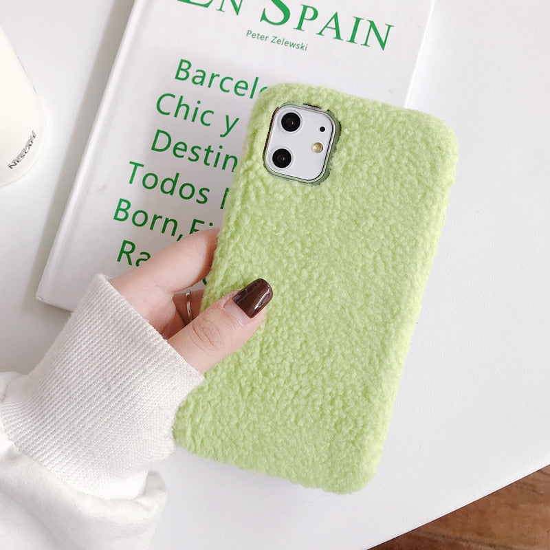 Warm Fuzzy Lambswool iPhone Soft Case
