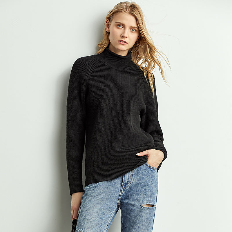 Smart High Neck Knit Pullover