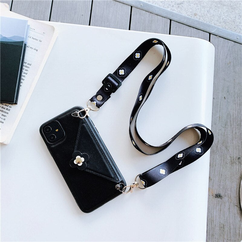 Leather iPhone Cover With Storage Pocket