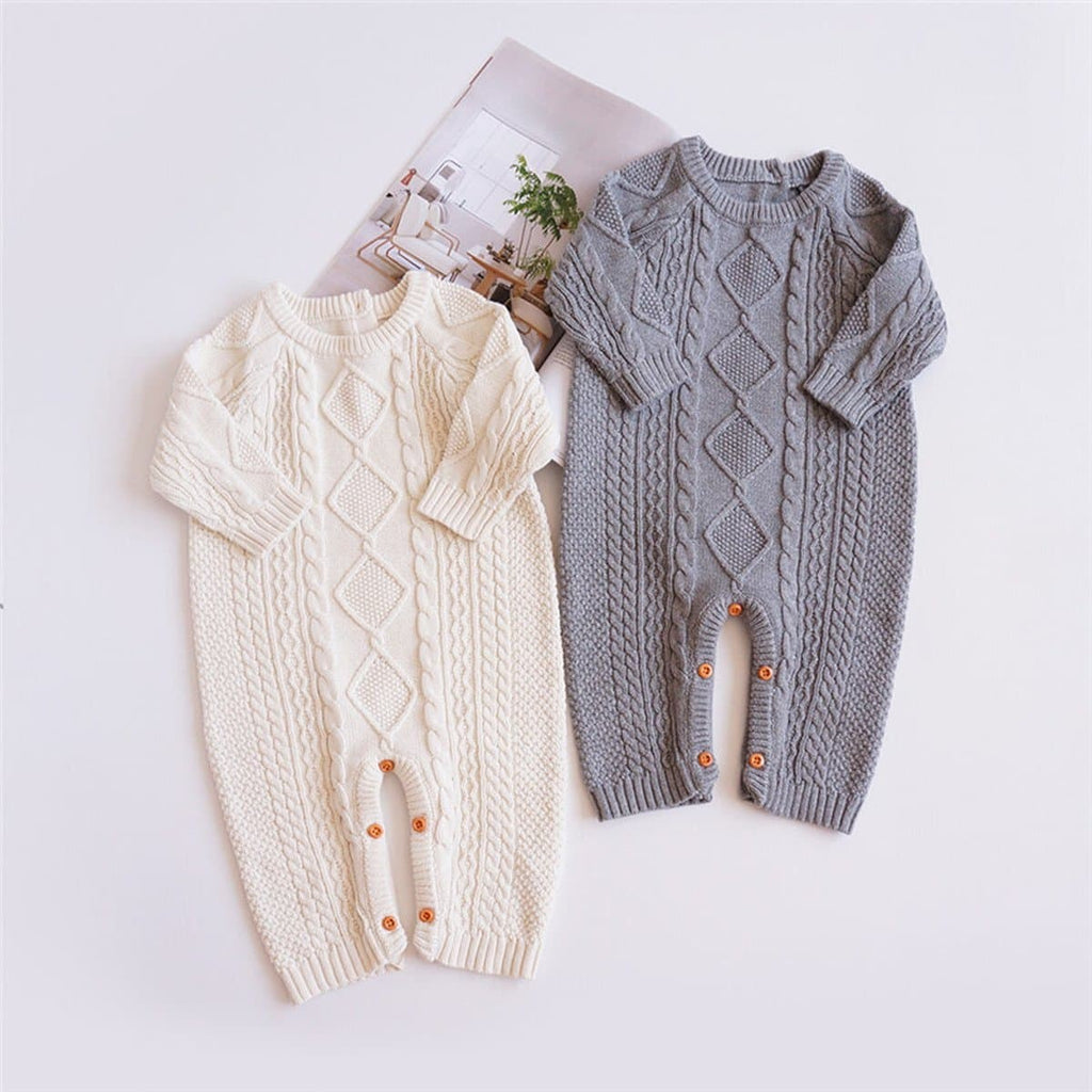 Baby One Piece Knitted Sweater Romper