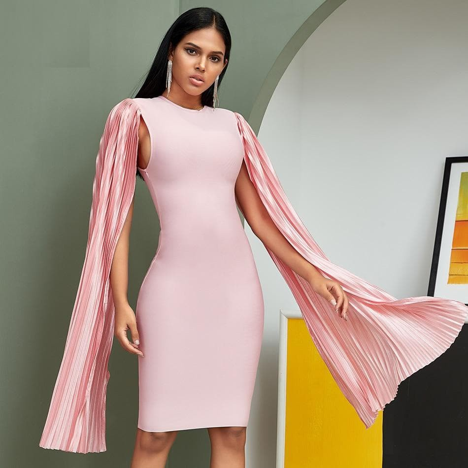 Long Batwing Sleeve Bodycon Dress