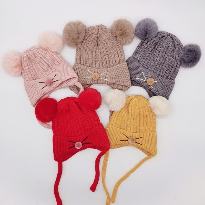 Knitted Wool Hemming Caps