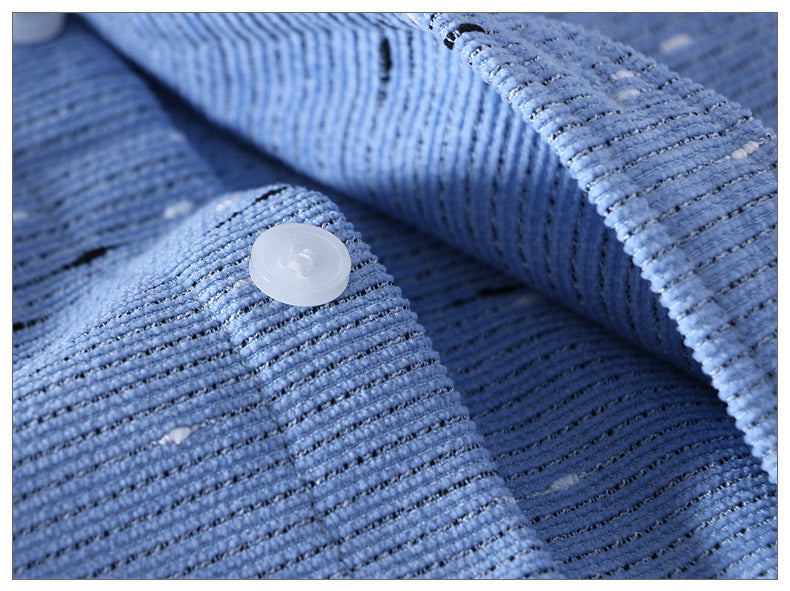 Corduroy Polka Dot Long Sleeve Casual Shirt