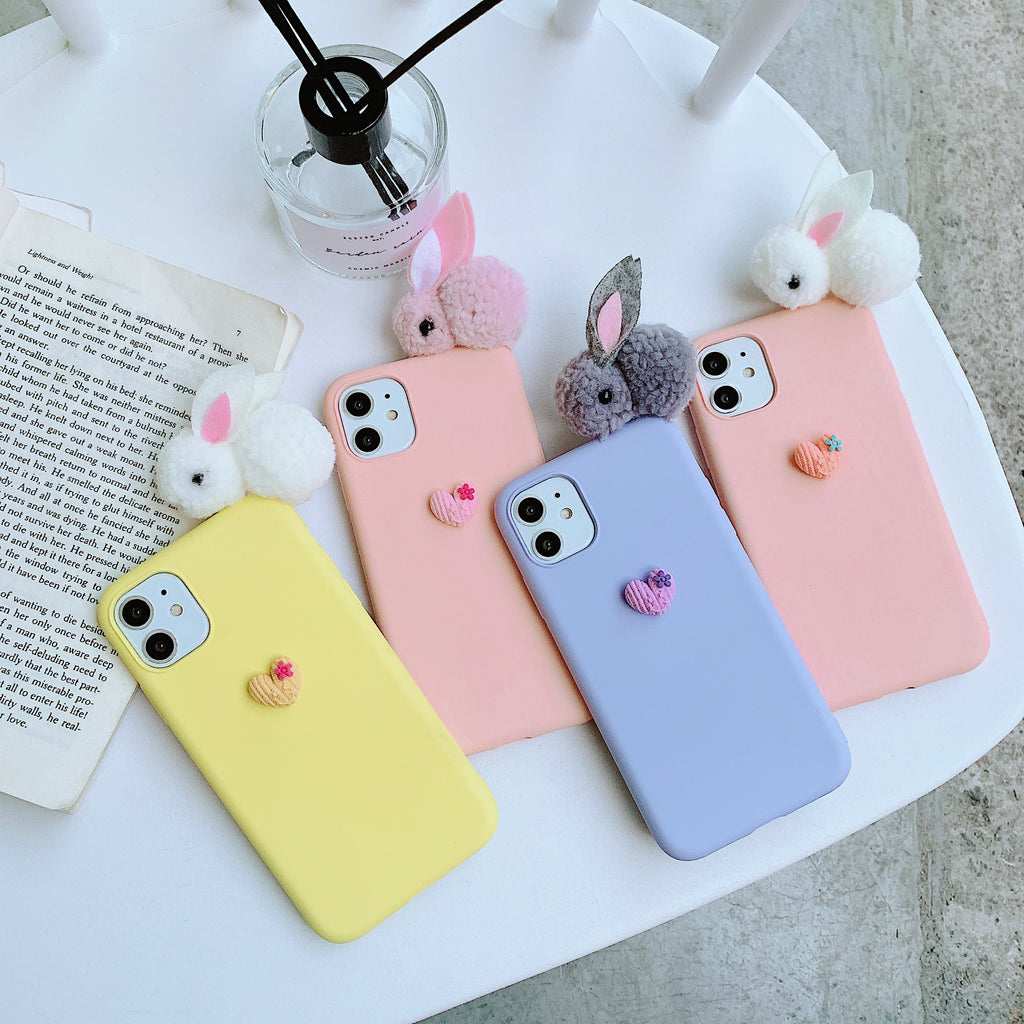3D Rabbit Samsung Silicone case