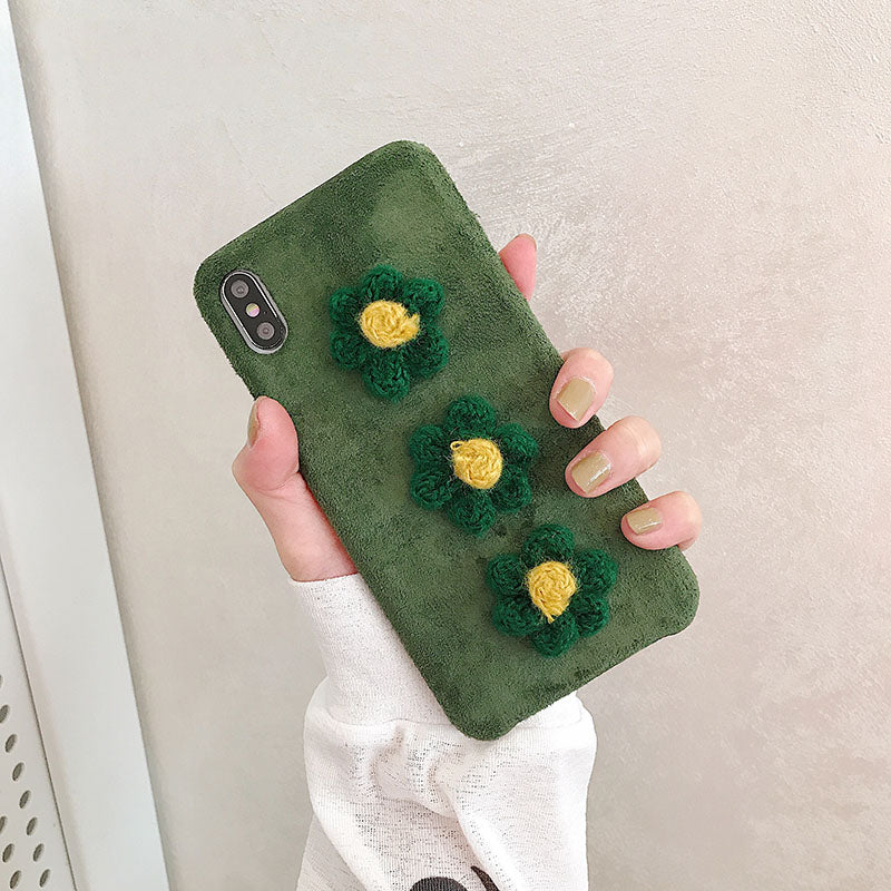 Fabric Flower iPhone Soft Case