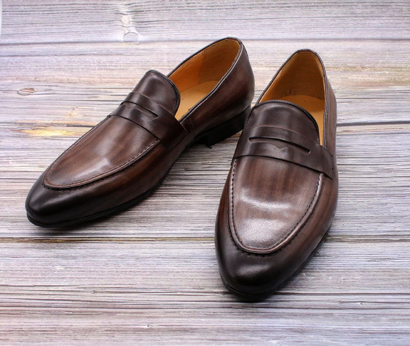 Hand Painted Genuine Leather Dress Shoes
