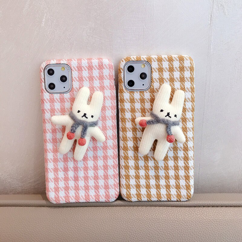 iPhone Fabric Grid Pattern Case