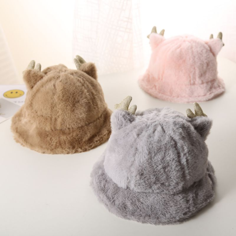 Toddler Plush Bucket Hats