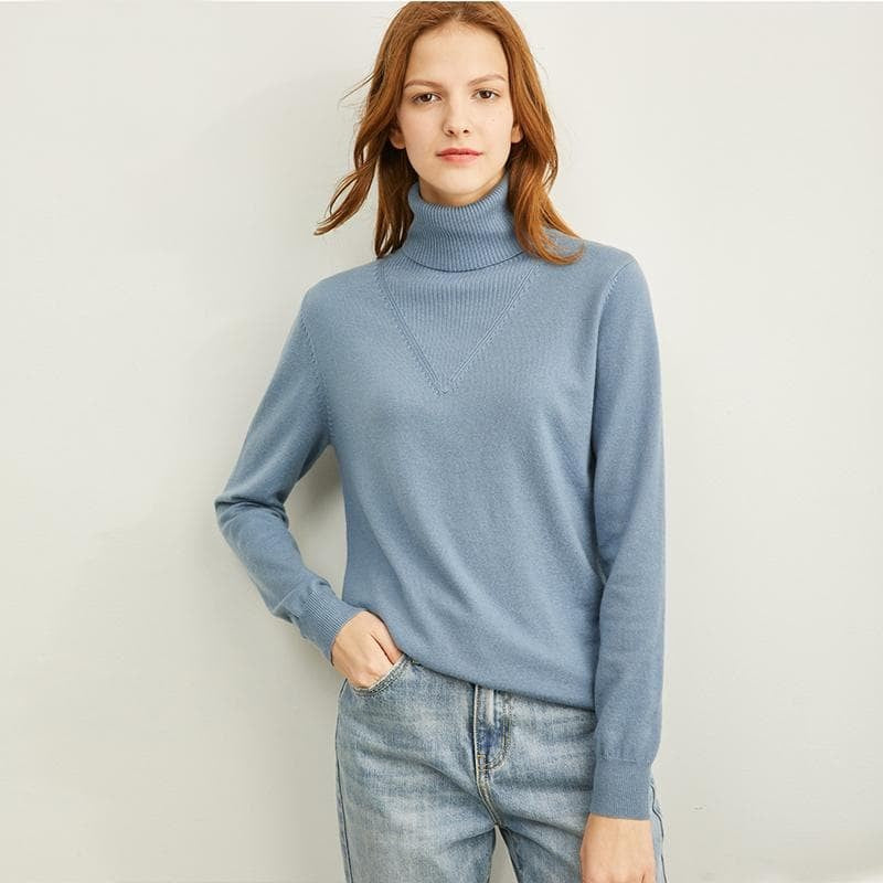 Turtleneck Full Sleeves Soft Knit Pullover