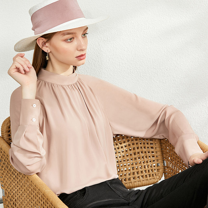 Pleated Full Sleeve Blouse