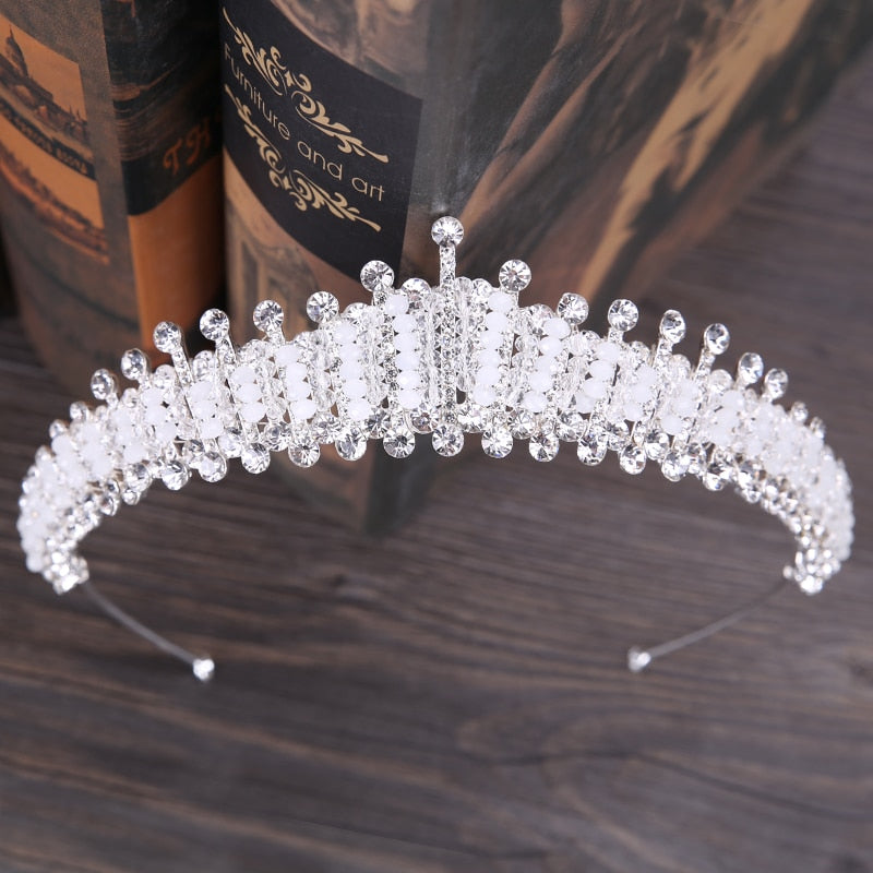Exquisite Acrylic Crystal Princess Crown