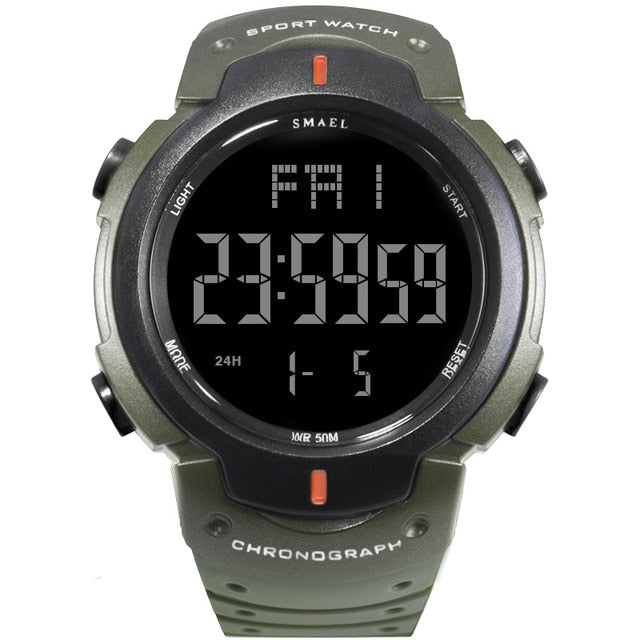 LED Display Chronograph Sports Watch