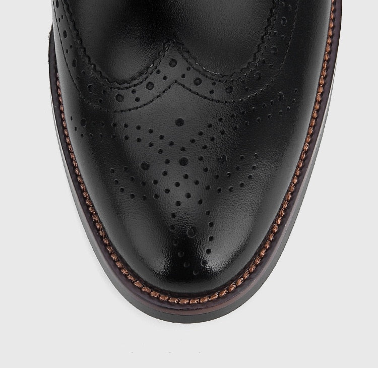 Brogue Genuine Leather Hand Carved Shoes