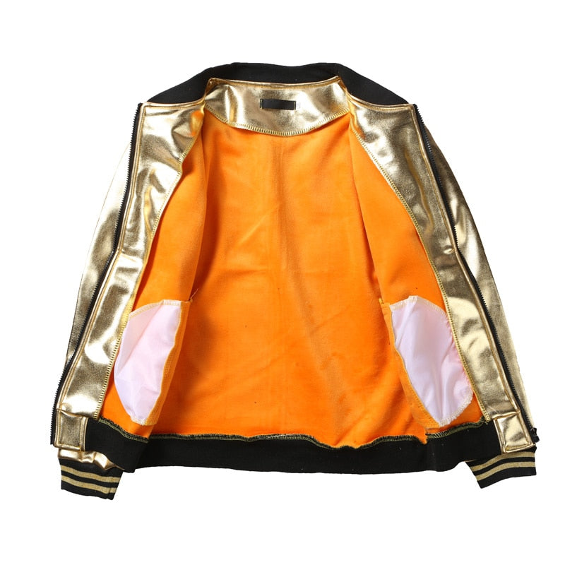 Slim Fit Metallic Jacket