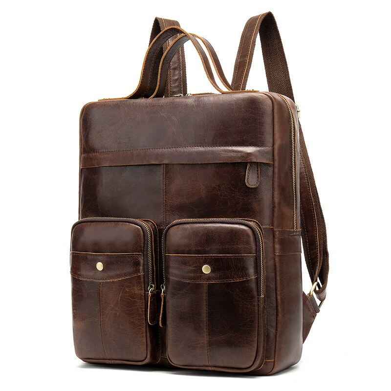 Genuine Leather 14inch Laptop Backpack