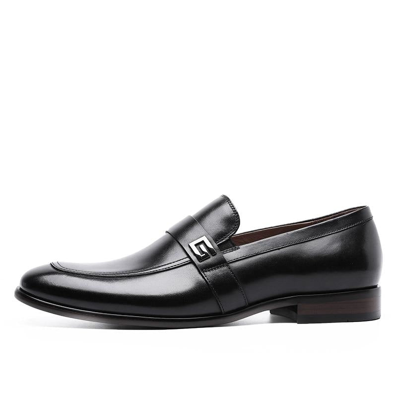 Genuine Leather Slip-On Oxfords