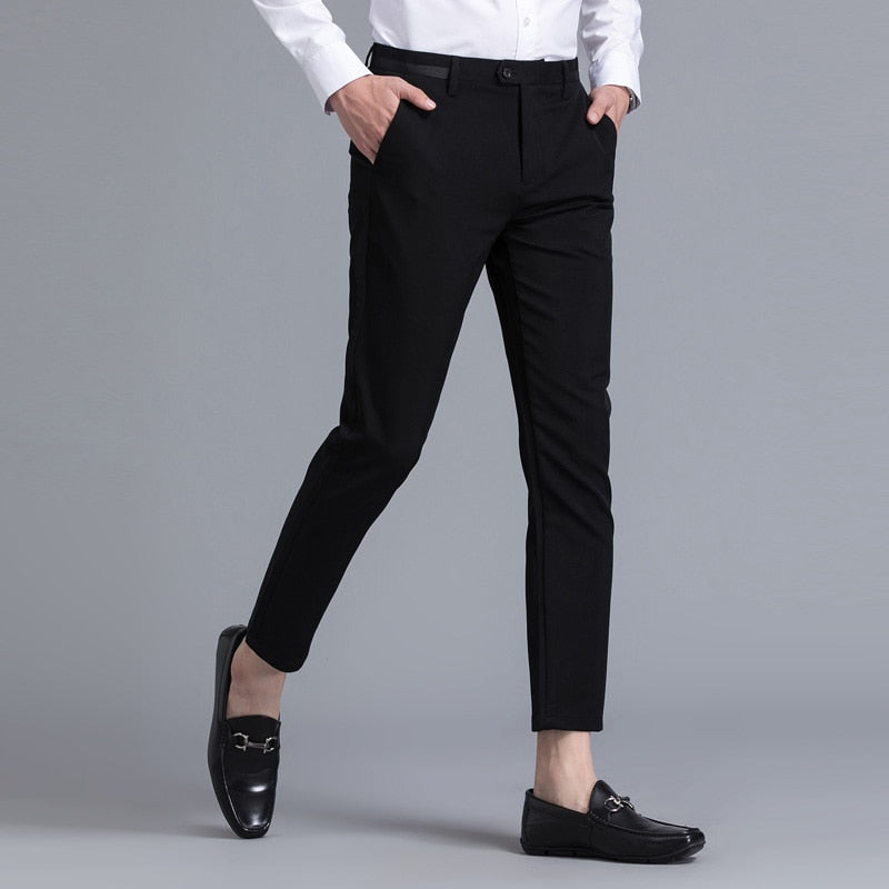 Stretch Ankle Length Pants