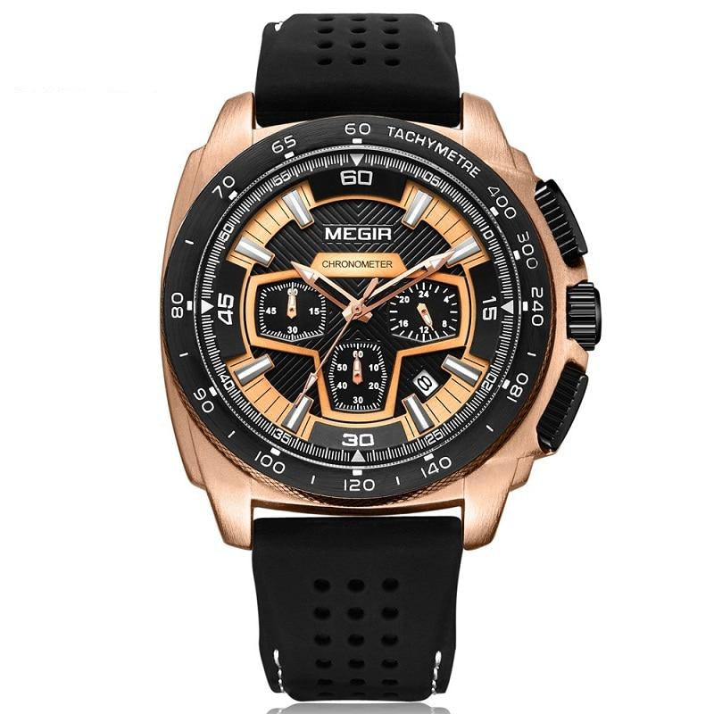 Silicone Strap Chronograph Analog Watch