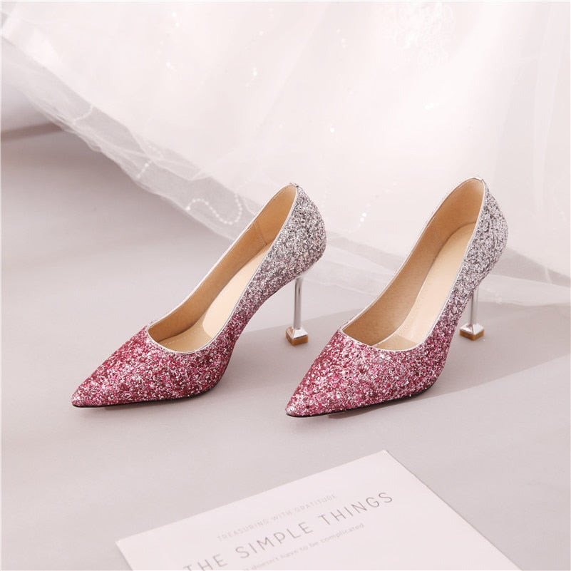 Pointed Toe High Heel Pumps