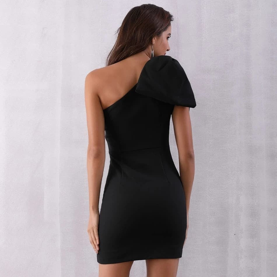 One Shoulder Runway Party Dress