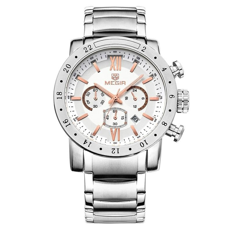 Steel Chronograph Analog Watch