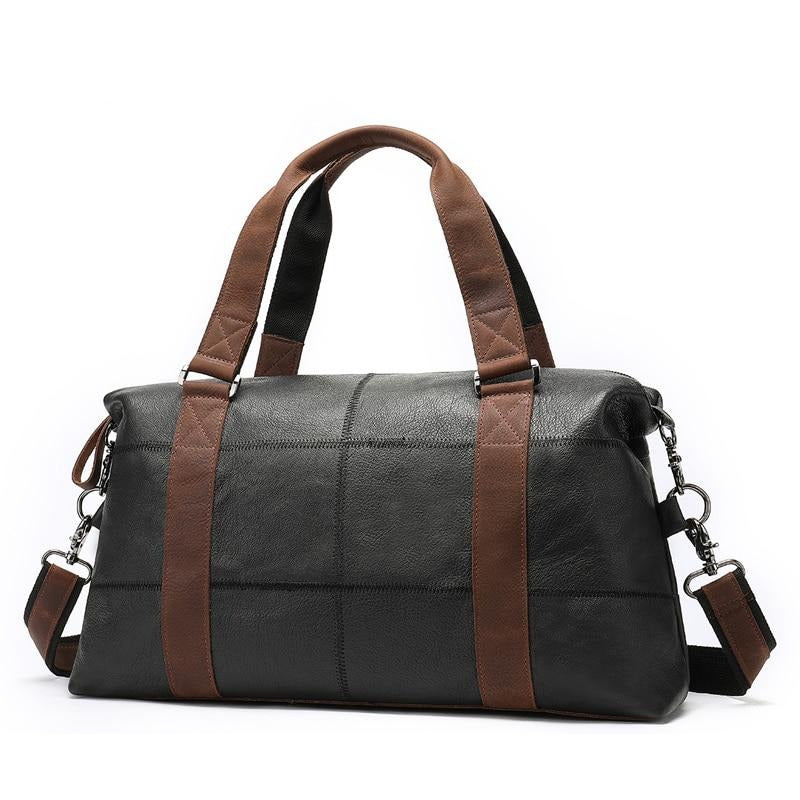 Genuine Leather Vintage Duffle Travel Bag