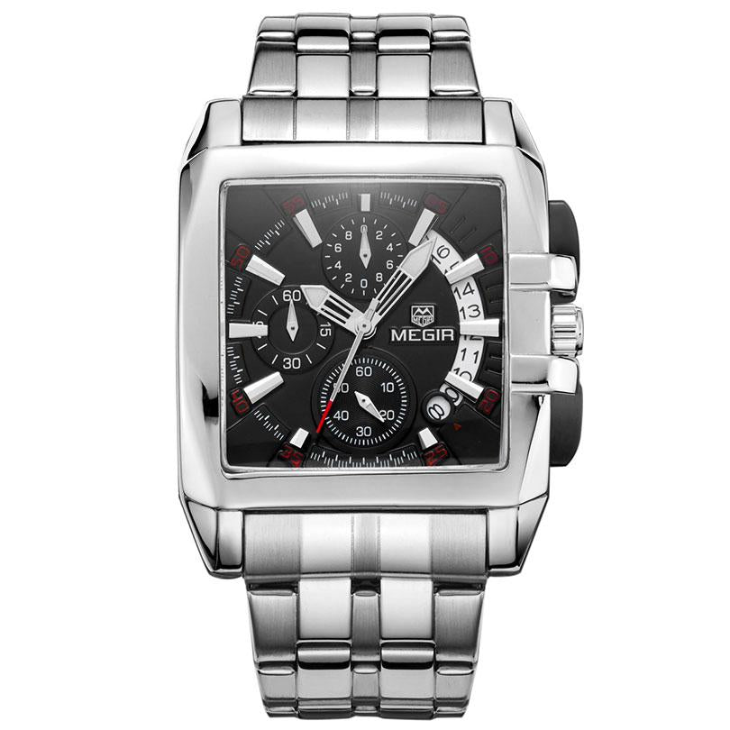 Stainless Steel Chronograph Analog Watch