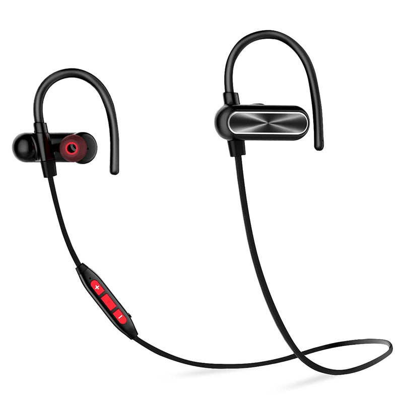 Bluetooth 4.1 Waterproof Earphones (Black Red)
