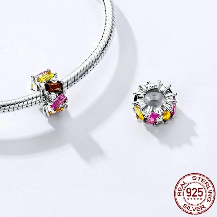 Multicolored Cubic Zirconia 925 Sterling Silver Pendant