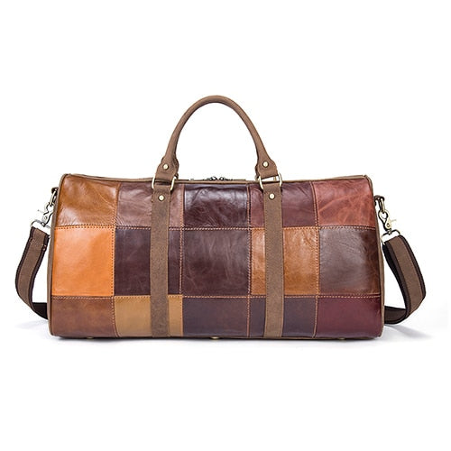 Genuine Leather Travel Duffle Bag