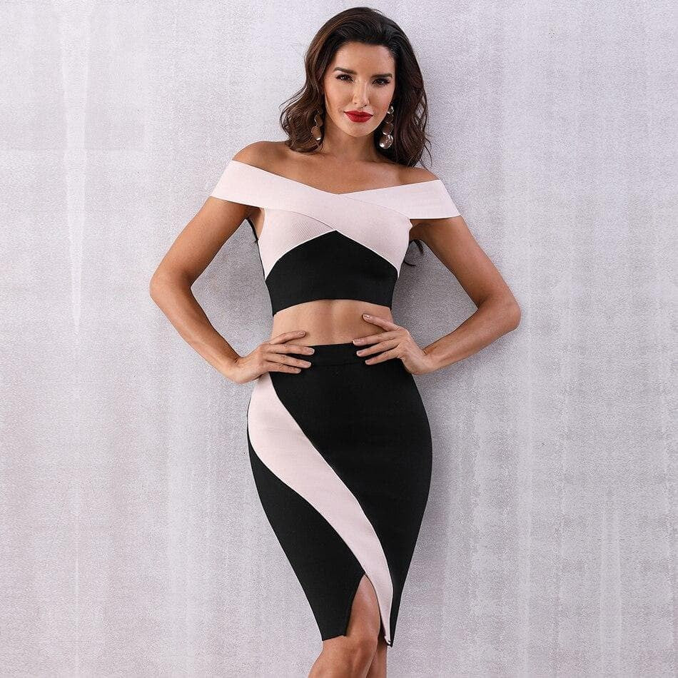 Bodycon Bandage 2 piece Dress