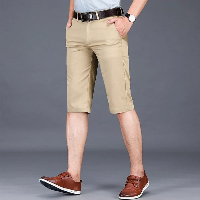 Cotton Knee Length Chinos Shorts