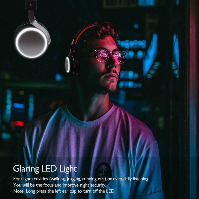 Bluetooth 4.2 LED Headphones