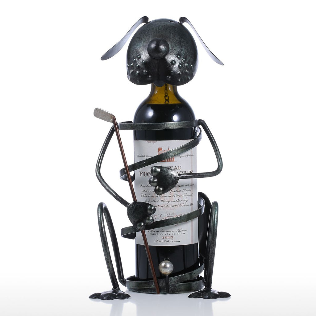 Golf Puppy Iron Handmade Wine Rack (as pic)