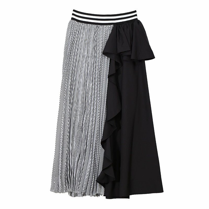 Chic High Waist Ruffle Skirt