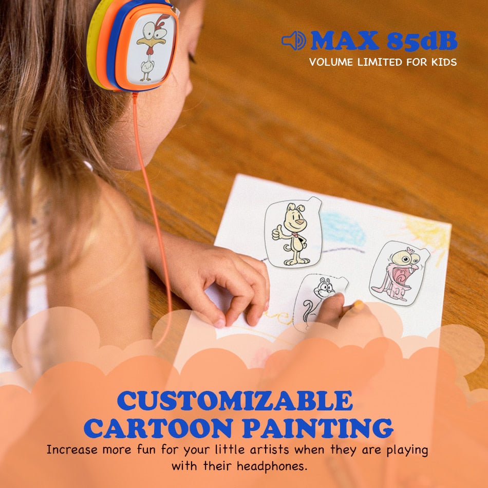 DIY Painting Cards Kids Headphones