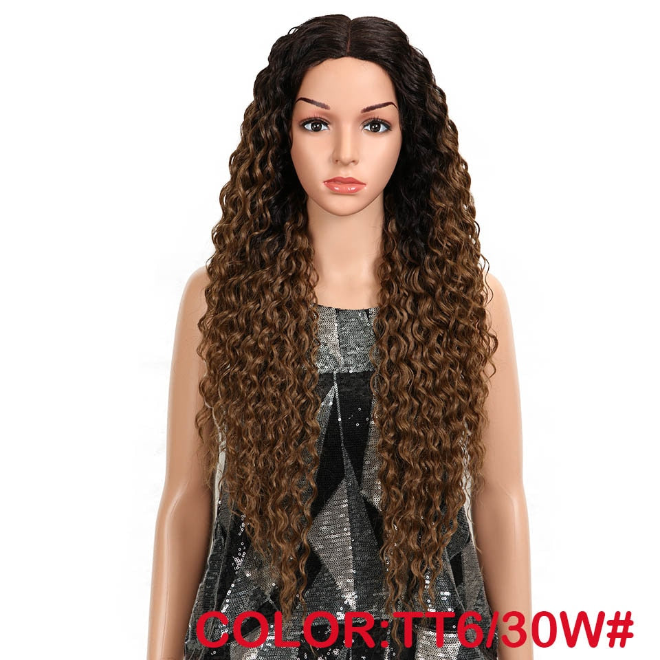 32 Inch Curly Synthetic Lace Front Wigs