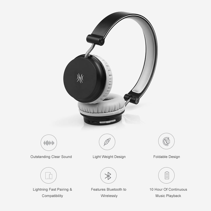 Foldable Bluetooth Stereo Headphone With Mic